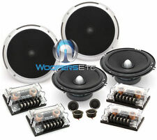 "2 sets SOUNDSTREAM PF.6 CAR 6.5"" 100W RMS COMPONENT SPEAKERS TWEETERS CROSSVERS"