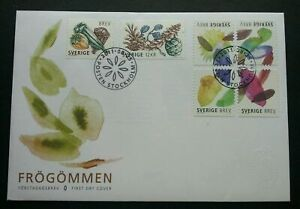 [SJ] Sweden Seed Capsules 2011 Fruit Plant (stamp FDC) *non fv