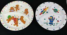 Vintage 1987 Anacapa Melamine Ware Child's Divided Plates Bears Astronaut