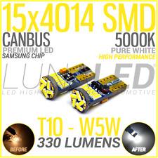 2 BOMBILLAS LED T10 W5W 15 SMD 4014 CANBUS BLANCO 5000K SAMSUNG COCHE BULB WHITE