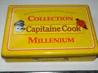 """boite métallique PUBLICITAIRE ancienne :""""Capitaine COOK"""", french vintage."""