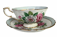 Vtg Paragon by Appointment Fine Bone China England Tea Cup & Saucer Rose Bouquet