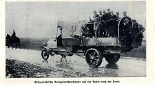 Österreichische Kriegsberichterstatter auf einem LKW zur Front 1. WK 1914