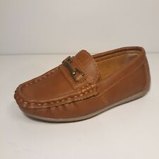 Boys Josmo 356472 Brown Leather shoes Loafers Moccasins style rubber sole US 8