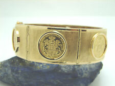Damen Münzarmband 750 Gold mit 5 Mark Goldmünzen 61,2 Gramm 19 cm Goldarmband