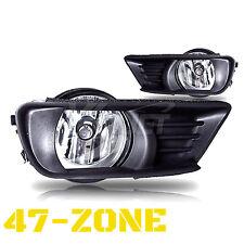 For 2007-2009 Toyota Camry Clear Lens Chrome Housing Bumper Fog Lights Lamps Kit