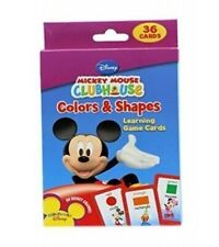 36 Flash Cards in Box: Disney Mickey Mouse Clubhouse Colors & Shapes