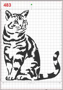 Cute sitting Cat Kitty Stencil MYLAR A4 sheet strong reusable art craft walldeco