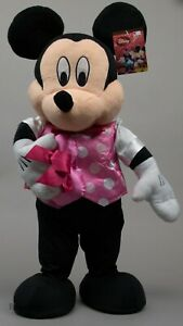 Valentine's Disney 25 in Tall Valentine's Mickey Mouse Greeter w/ Pink Heart NWT
