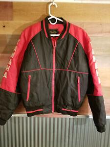 Vintage Yamaha Maxim Wear Mens Snowmobile Jacket Black Red Nylon Size Medium
