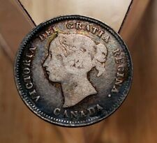 1872-H Canada  5 Cents Silver Foreign Coin