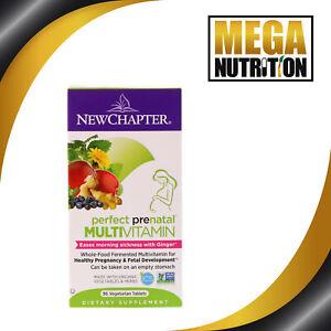 New Chapter Perfect Prenatal Multivitamin 96 Vegetarian Tablets Morning Sickness