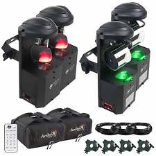 American DJ Inno Pocket Scan/Roll LED Four Pack + Bags + Clamps