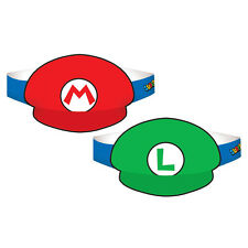 8 Super Mario Bros Luigi Gaming Birthday Party Treat Favor Paper Hats