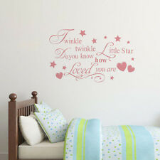 Twinkle Twinkle Little Star Quote Words Wall Sticker Kids Baby Room Vinyl Decal