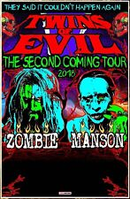 ROB ZOMBIE | MARILYN MANSON Twins Of Evil Tour 2018 Ltd Ed New RARE Poster!
