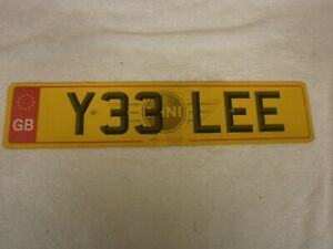 GREAT BRITAIN ENGLAND LINCOLN RARE RED EUROSTARS # Y33 LEE REAR LICENCE PLATE
