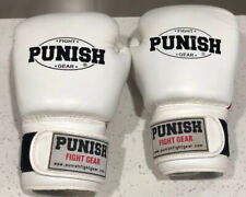 10 OZ Punish Fight Gear LEATHER BOXING GLOVES SPARRING MMA PUNCH BAG MITT UFC