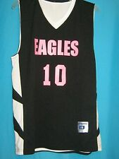 NWT CHAMPRO SPORTS BASKETBALL JERSEY BLACK PINK EAGLES #10 ADULT MEDIUM DRI-GEAR