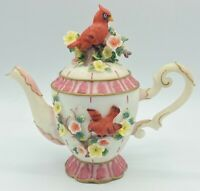"*As Is - Vintage 6"" Montefiori Collection Teapot ""Cardinal"" Spring Flowers"