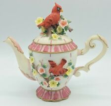 """*As Is - Vintage 6"""" Montefiori Collection Teapot """"Cardinal"""" Spring Flowers"""