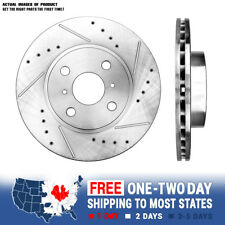 Front Drill Brake Rotors For 1993 - 2001 2002 Chevy Prizm Toyota Corolla Prius
