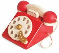 Le Toy Van HONEYBAKE PLAY VINTAGE PHONE Wooden Toy BN