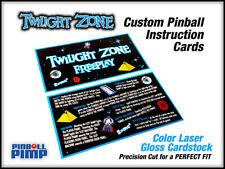 Bally Twilight Zone Pinball Instruction Cards - Custom Designed