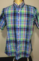 Polo Ralph Lauren Mens Short Sleeve Button-Up Custom Fit Shirt Large Multicolor