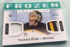 2014-15 artifact Frozen artifact DUAL Patch fa-TR Tuukka Rask-Bruins 18/36