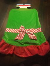 Dog Dress Holiday Christmas Elf Party Dress Size Large 25-50 Pounds Brand New