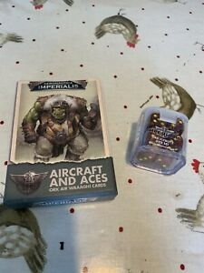 Aeronautica Imperialis - Aircraft And Aces - Ork Air Waagh! Cards And Dice.