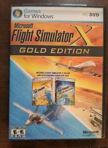 🟢 🎮 Microsoft Flight Simulator X Gold Edition PC Windows 2008. Pre-owned. MBR