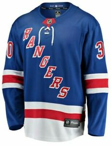 NHL NY Rangers Henrik Lundqvist #30 Sewn Fanatics Jersey Men Size 4XL