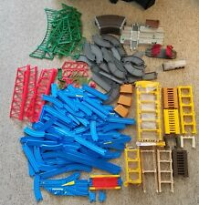 Tomy Trackmaster Tomica Plarail Thomas Blue Track MASSIVE LOT W Risers