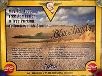 Blue Angels Fallon Naval Air Station Poster - Fallon, Nevada 1999 - 2 available