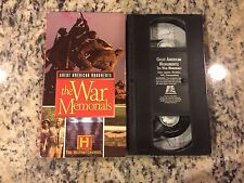 GREAT AMERICAN MONUMENTS: THE WAR MEMORIALS OOP VHS 1994 WWII VIETNAM IWO JIMA!