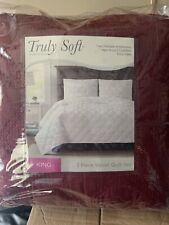 Truly Soft Every Day Three-Piece Velvet Quilt Set King Size