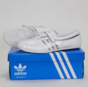 Adidas Concord Round W Damen Ballerinas Lack Leder Schuhe weiss/silber Gr. 40-41