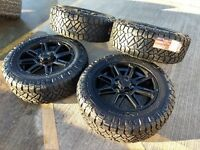 "20"" Toyota Tundra 2019 TSS TRD OEM BLACK wheels rims tires OE 33"" NITTO A/T 2018"