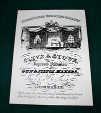 Clive & Stowe Gunmaker riproduzione carta Gun Case Accessori etichetta