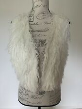 Lucky Brand White Fur Vest Large
