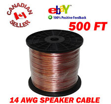 500 FT 152m High Definition 14 Gauge 14 AWG Speaker Wire Cable Home Theater HDTV
