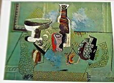 Pablo Picasso Green Still Life Poster Offset Lithograph Unsigned 16x11