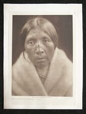 Missi-tsatsa Owl Old-Woman Sarsi Photogravure Tissue  Edward S Curtis Native A
