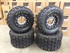 Hiper Tech 3 Beadlock Wheels Maxxis Razr 2 Tires Front/Rear Kit LTR450 LTZ400