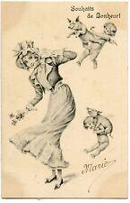 anges.cochons.charmante femme.chapeau.angels.pigs.charming woman.ladie.hat.