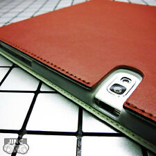 Genuine Leather Book Case Cover for Samsung SM-P605VZKEVZW Galaxy Note 10.1 2014