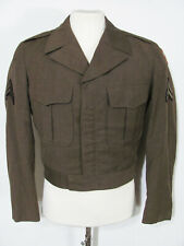 vintage 50s US ARMY WOOL KOREA 1952 UNIFORM JACKET COAT w/ PATCHES military 38 M