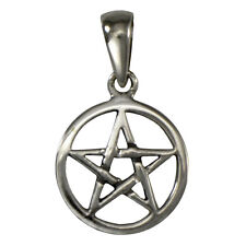Small Sterling Silver Pentacle Pentagram Pendant Pagan Wiccan Jewelry Charm